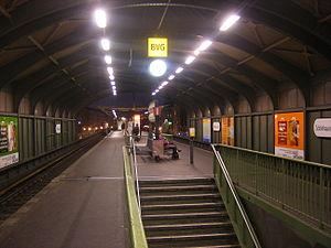 Berlin Schönhauser Allee station - U-Bahn platforms at Schönhauser Allee
