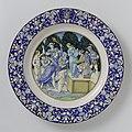 Schotel met de laster van Apelles en het familiewapen Ridolfi Schotel met een allegorie van de Laster en het wapen van de Florentijnse familie Ridolfi, BK-NM-7435.jpg