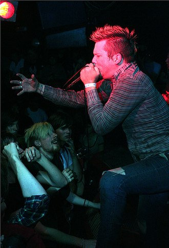The Chariot (band) -  Josh Scogin performing with The Chariot at Camden Underworld, London in 2006.