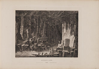 Fingal's Cave - Engraving of Fingal's Cave by James Fittler in Scotia Depicta, 1804.