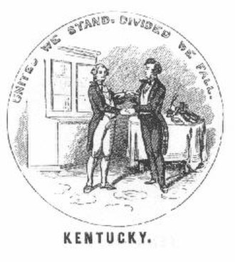 Seal of Kentucky - Image: Seal of Kentucky used during the Civil War