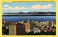 Seattle WA - Skyline of Seattle, Washington, Puget Sound and Olympic Mountains in the Distance (NBY 430183).jpg