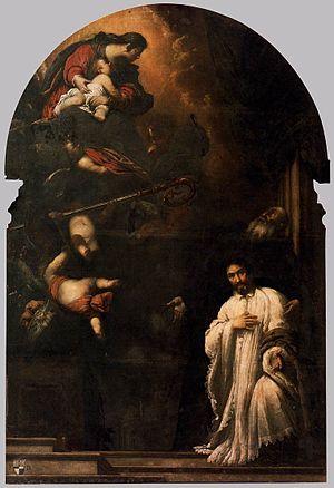 San Beneto - Image: Sebastiano Mazzoni St Benedict Presents Pasqualino Daneli to the Virgin WGA14728
