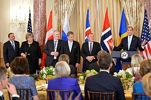 Erna Solberg - Solberg and other Nordic leaders in Washington, D.C., 13 May 2016