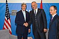 Secretary Kerry Shakes Hands With Albanian Prime Minister Rama Before Bilateral Meeting at NATO Summit in Wales (14961134157).jpg