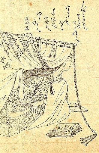 Sei Shōnagon - Sei Shōnagon, drawing by Kikuchi Yosai (1788–1878)