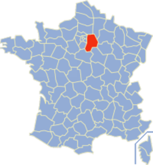 Communes of the Seine-et-Marne department - Image: Seine et Marne Position