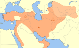 Seljuk Empire Border 1092 - Sultan Tughrul bey period.png