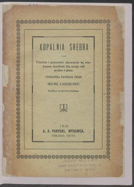 File:Selma Lagerlöf - Kopalnia srebra.djvu