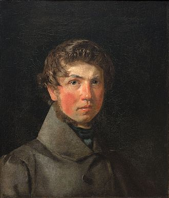 Christen Købke - Self portrait, oil on canvas, circa 1833