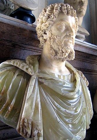 Septimius Severus - Alabaster bust of Septimius Severus at Musei Capitolini, Rome