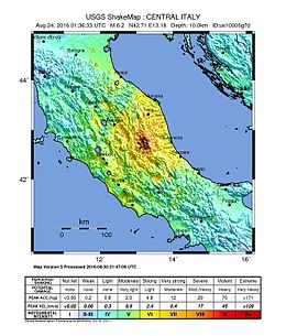 USGS shakemap of the earthquake.