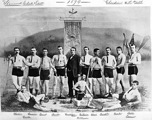 Montreal Shamrocks - Shamrock championship lacrosse team, 1879