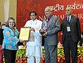 Shashi Tharoor presented the National Tourism Awards, at a function, in New Delhi on February 18, 2014. The Secretary, Ministry of Tourism, Shri Parvez Dewan is also seen (3).jpg