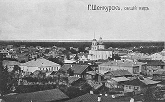 Battle of Shenkursk - A panoramic view of Shenkursk in 1917