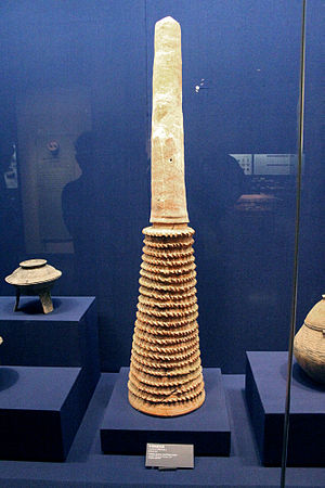Shijiahe culture - Tubular pottery sacrificial vessel, Shijiahe culture, Hubei Provincial Museum