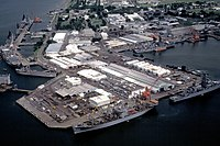Ships docked at the U.S. Naval Station Subic Bay, Philippines, on 28 August 1981 (6352680).jpg