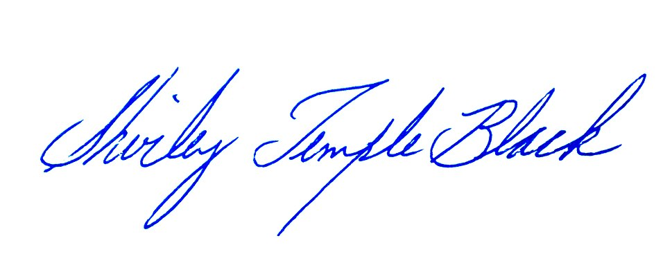 Shirley Temple's signature