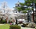 Shiroishijo Castle & statue of Ōzutsu Man'emon.JPG