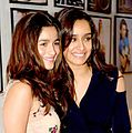 Shraddha Kapoor and Alia Bhatt at the 'Launch of Dabboo Ratnani's 2016's calendar'.jpg