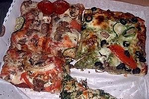 Sicilian pizza - Image: Sicilian style Pizza