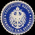 Siegelmarke Kaiserliche Marine - Kommando der S.M.S. Brummer W0262541.jpg