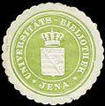 Siegelmarke Universitäts - Bibliothek - Jena W0226929.jpg