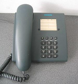A landline telephone