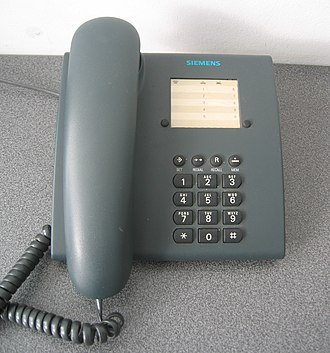 Landline - A landline telephone made by Siemens