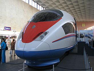 Saint Petersburg–Moscow Railway - Siemens Velaro RUS in waiting hall of Moskovsky terminal in St. Petersburg)