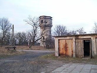 Sierpc railway station - Image: Sierpc wieza cisnien