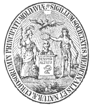 Anastasie Fătu - Seal of the Iași Medical and Naturalist Society
