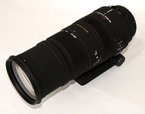 Telephoto lens - A 150–500mm telephoto zoom lens