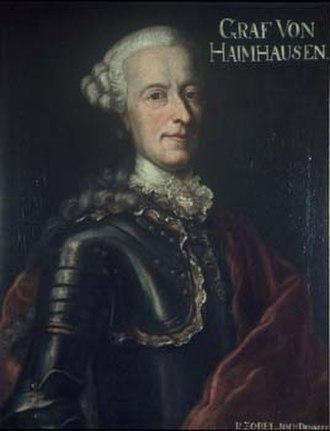 Sigmund von Haimhausen - Portrait of Sigmund von Haimhausen (1708-1793)