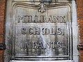 Sign 'Millbank Schools Infants' - geograph.org.uk - 1132198.jpg