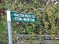 Sign for the Halter Path - geograph.org.uk - 1466027.jpg