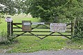 Signage relating to Wayfarer's Walk, Cut Bridge, Soberton - geograph.org.uk - 237662.jpg