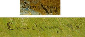 John Joseph Enneking - Signatures of John Joseph Enneking