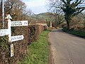 Signpost Near Cadbury Castle - geograph.org.uk - 306391.jpg