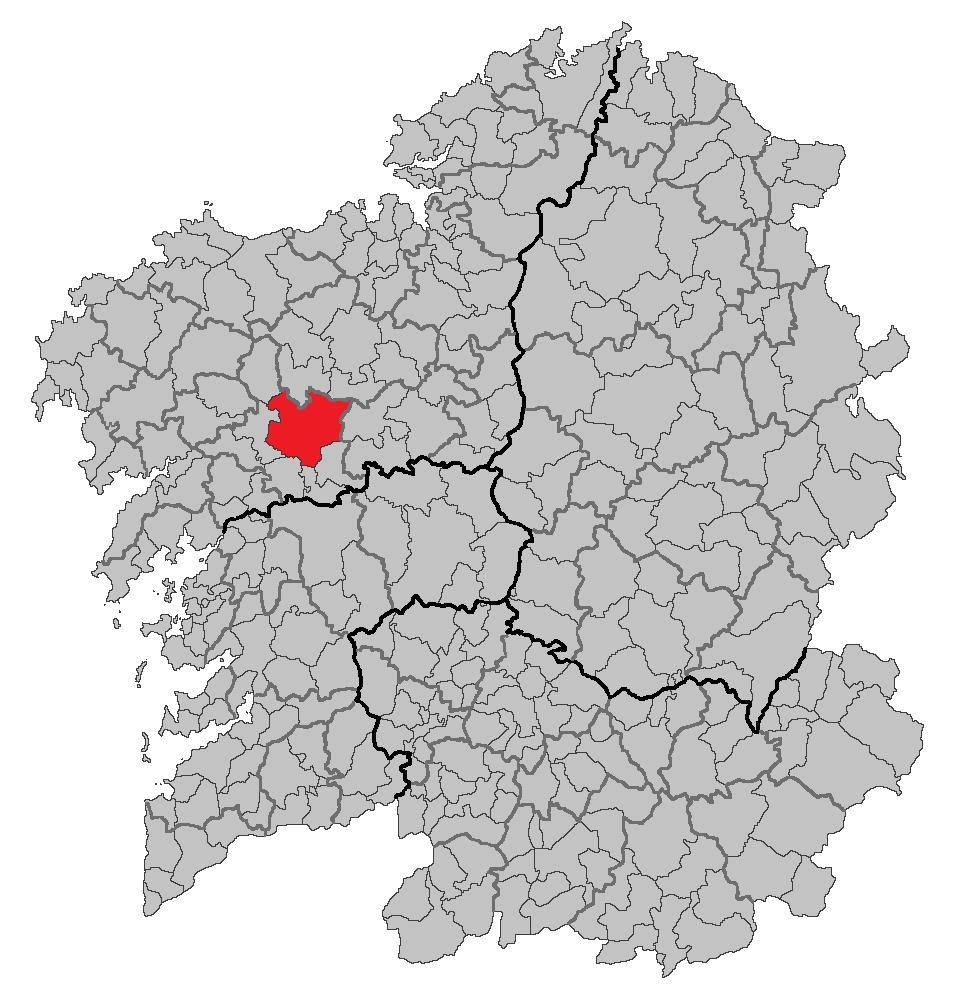 Situacion Santiago de Compostela