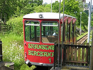 Skansens bergbana - One of the cars