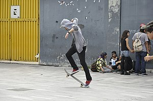 Kickflip - Image: Skateboarding at Mexico City Flip 031