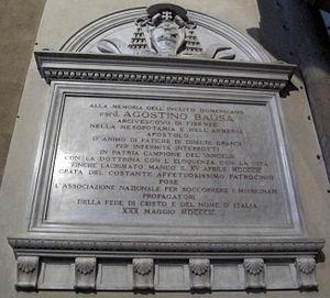 Agostino Bausa - Image: Smn, transetto dx, lapide al cardinale agostino bausa