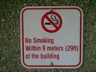 Posted sign to avoid passive smoking in York University, Toronto, Ontario, Canada.