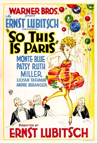 So This Is Paris (1926 film) - theatrical release poster