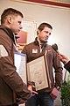 Solvita Āboltiņa tiekas ar Latvijas olimpisko komandu XXII Ziemas olimpiskajās spēlēs Sočos (12815494104).jpg