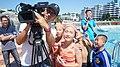 Songdowon International Children's Camp with SporTV cameraman Geovanne (16051535596).jpg
