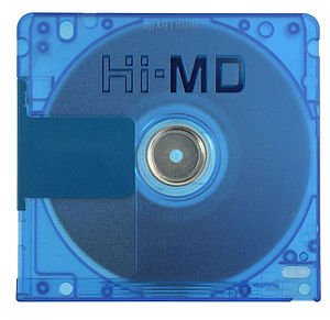 Hi-MD - Sony Hi-MD disc, back view