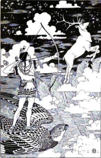 Sosondowah - Sosondowah, illustration by Frederick Richardson for The Red Indian Fairy Book (Frances Jenkins Olcott)