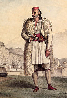 traditional pleated skirt-like garment worn by men of the Balkans
